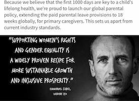 Danone CEO Emmanuel Faber on Global Maternity Policy