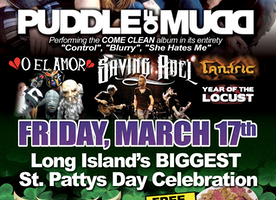 The Emporium Kick's Off St. Patty's Day with Puddle of Mudd & O EL AMOR  Friday, March 17th