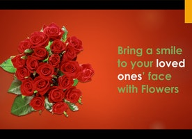 Bring a smile to your loved ones' face with Flowers