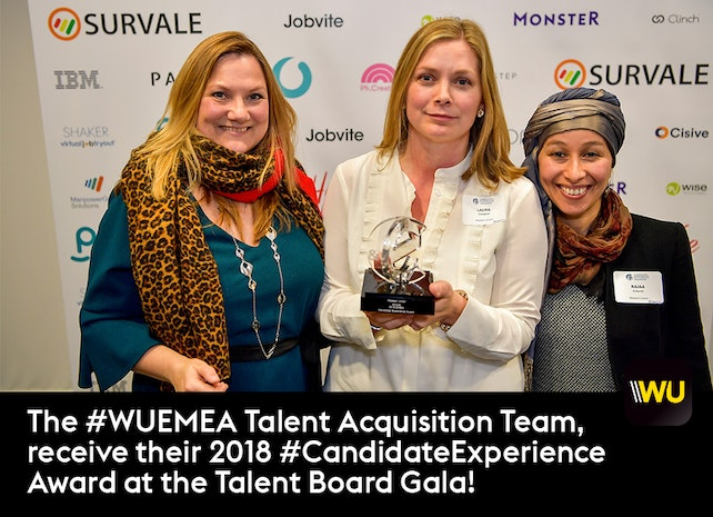 Western Union receives APAC & EMEA Candidate Experience Awards for 2018!
