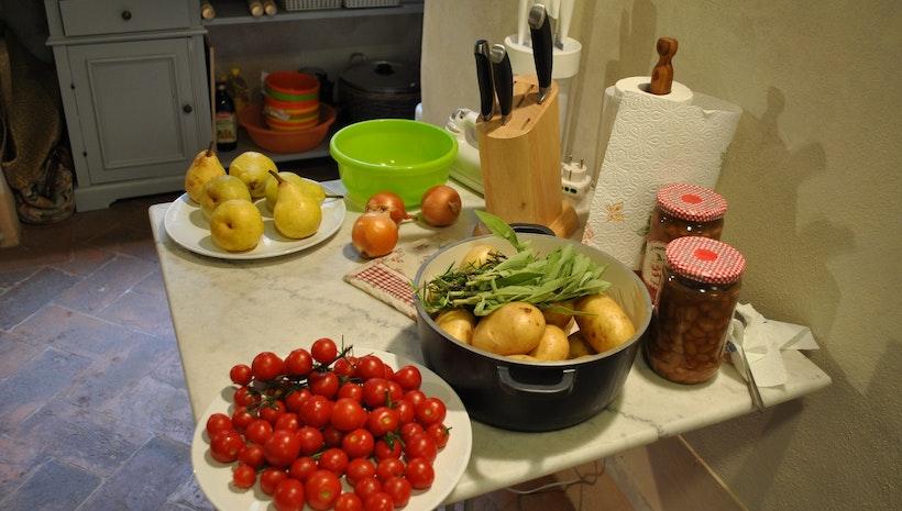 Cooking in Cortona