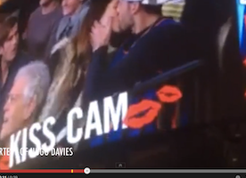 Annoyed Girlfriend Kisses Stranger on Jumbotron After Being Rejected by Boyfriend
