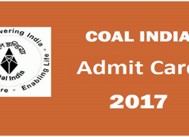 Coal India Limited Admit Card 2017 | CIL MT Call Letter - Direct Link Download