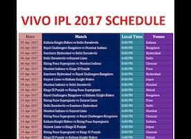 IPL 2017 Schedule Venue Details of Indian Premier League 10