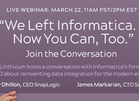 Webinar: We Left Informatica. Now You Can, Too.