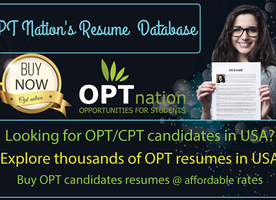Best Database of OPT Resumes in USA | OPT Resume Database