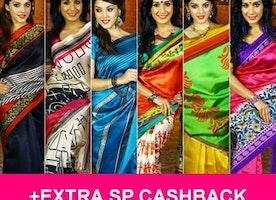 Sarees Sale: Shop At 250, 300, 500, 1000 | Extra Cashback | 17-Mar-2017