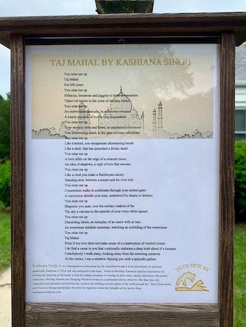 The FOX POETRY BOX features my Taj Mahal