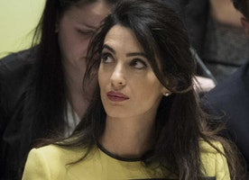 A lawyer named Amal Clooney gave a powerful speech at the U.N. Some only saw her baby bump.
