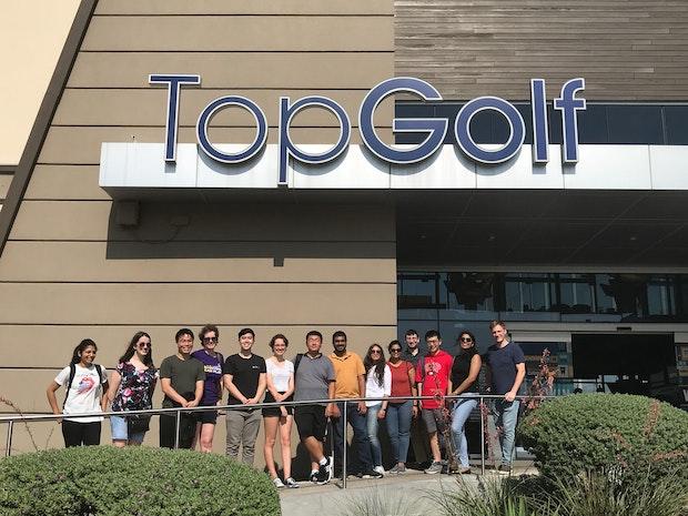 EA Austin interns go Top Golf