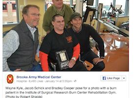 Bradley Cooper Surprises Veterans at Screening of American Sniper. Amazing.