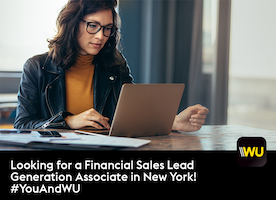Looking for a Financial Sales Lead Generation Associate in New York! #YouAndWU
