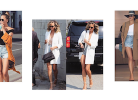 3 Times Chrissy Teigen Rocked Denim Shorts And A Duster Coat, Steal Her Outfits For Less