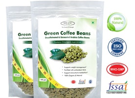 Sinew Nutrition Green Coffee Beans Decaffeinated & Unroasted Arabica Coffee -400gm (Pack of 2) for weight management
