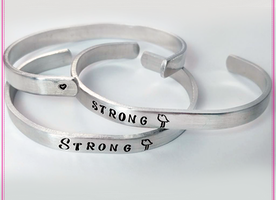 Win 1 of 4 STRONG Chicks Cuff Bracelets!