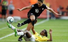 Girls Play Soccer Like Girls...