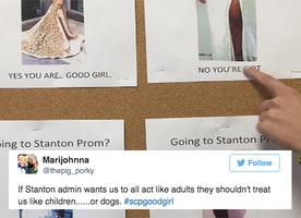 High School Apologizes For Posting 'Good Girl' Prom Dress Flyers