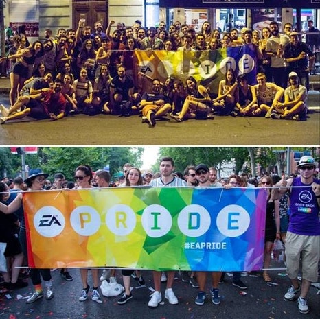 EA Madrid Particiaptes in PRIDE Parade