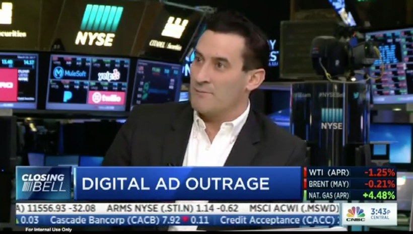 Advertisers are leaving YouTube – our CEO Matt B. Britton told CNBC Closing Bell why it matters