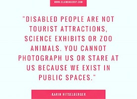Do not take photos of disabled people without ...