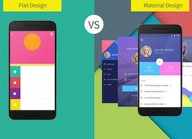 Flat Design or Material Design - Choosing the Best for Mobile App Development