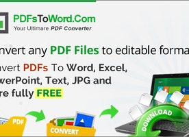 PDF To Word Converter Online - 100% Free PDF Converter | PDFsToWord