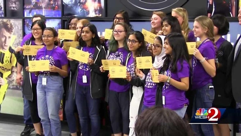 Girls code toward future in tech in EA's Get in the Game STEAM Camp