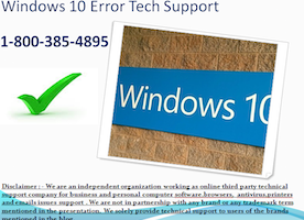Windows 10 error 1-800-385-4895 technical support phone number Customer service