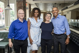 "President and Mrs. Obama Join Directors Julia Reichert and Steven Bognar for  ""A Conversation about American Factory"""
