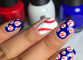 Batter up! It's Opening Day for MLB … get hype with this All-American mani