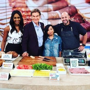 Fox TV Dr. Oz And Celebrity Make Up Artist Nydia Figueroa Take On Deli Meat Together In Latest Episode