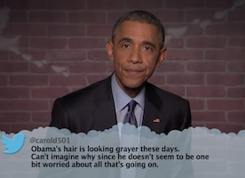 Obama Hilariously Reads Mean Tweets: Presidents Have Feelings Too!