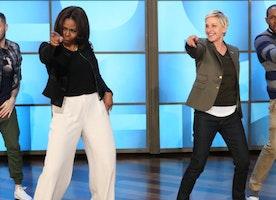 Michelle Obama Break It Down to 'Uptown Funk'! Amazing!