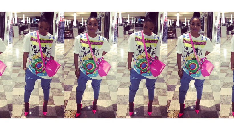 Rasheeda's Instagram From Love And Hip Hop Is Always On Point, Copy This Neon Oversized Tee Outfit For Less