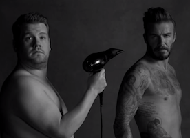 David Beckham and James Corden Made One Funny Underwear Ad!