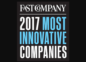 Honored to be recognized in the Top 10 of Fast Company's Most Innovative Social Good and Fitness Companies for 2017