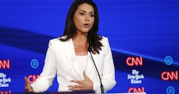 NYT style critic attacks Tulsi Gabbard's stunning white pantsuits as cult-like and 'fringe'