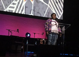 Empowering Young Girls: Gabourey Sidibe Speaks at the Apollo Women of the World Festival