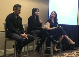 Listening to Mogul founder Tiffany Pham founder, Inc Magazine's Marie Aspan and Robbie Vitrano from Idea Village about How to do Good and Still Make Money
