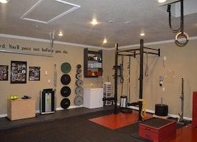 DIY garage gym transformation