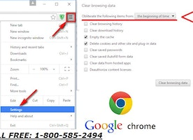 How to Reset the Google Chrome browser and Delete cookies?