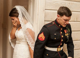 This Wedding Photo Deserves to be going Viral. God Bless Our Troops.