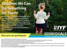 Participate in the #IYF's International Children's Day Campaign
