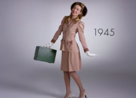 100 years of fashion in two minutes!