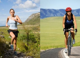True comparison between running vs. cycling