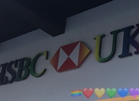 HSBC did this for Birmingham Pride 🏳️‍🌈❤️💛💚💙💜🏳️‍🌈