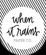 whenitrainspaper